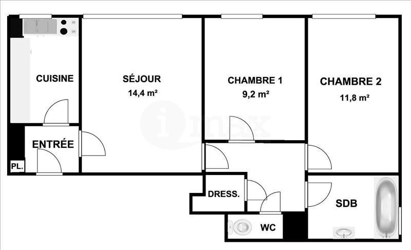 Sale apartment Courbevoie 300000€ - Picture 4