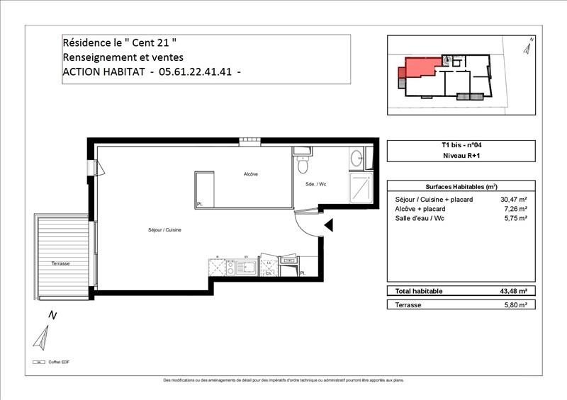 Vente appartement Toulouse 168000€ - Photo 2