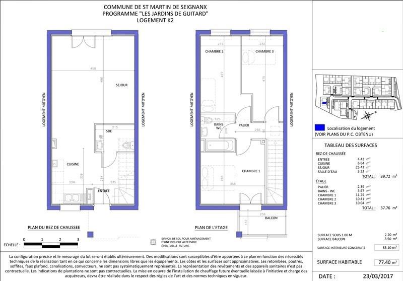 Sale house / villa St martin de seignanx 177200€ - Picture 4