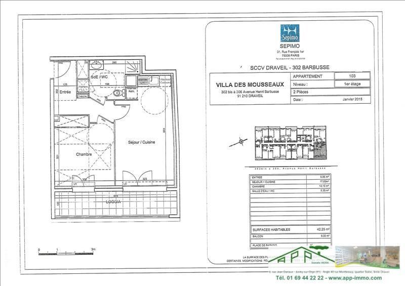 Rental apartment Draveil 750€ CC - Picture 6