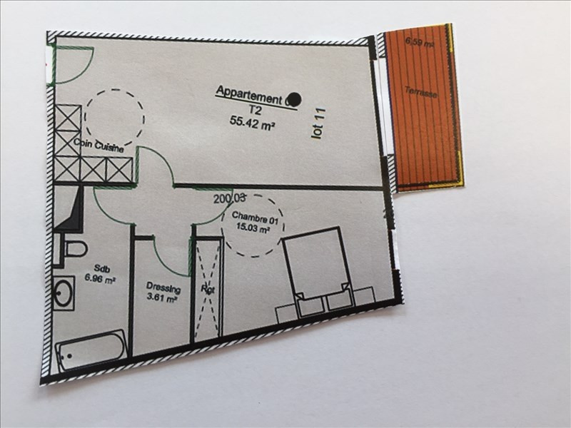 Venta  apartamento Charbonnieres les bains 299268€ - Fotografía 4