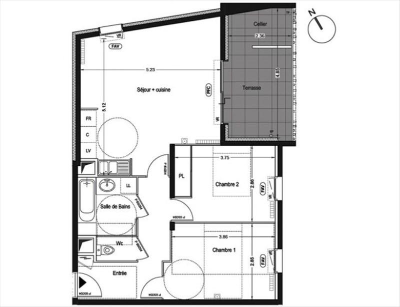 Rental apartment St jean de vedas 900€ CC - Picture 1