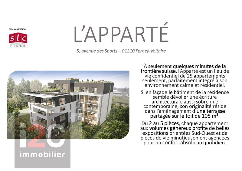 Sale apartment Ferney voltaire 650 000€ - Picture 1