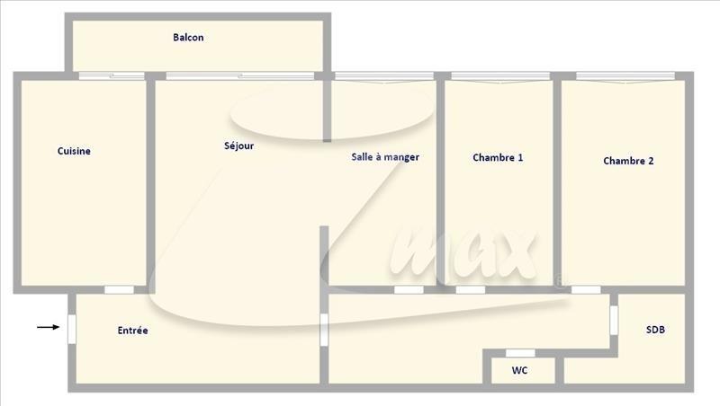 Sale apartment Aubervilliers 170000€ - Picture 1