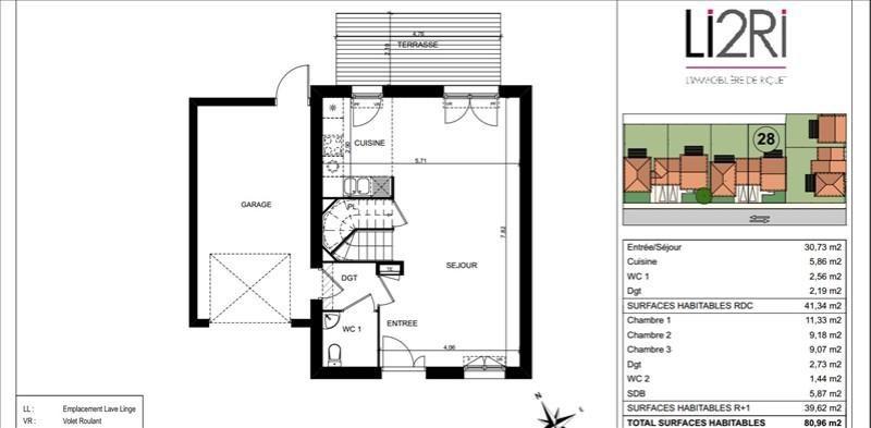 Vente maison / villa Mondonville 242000€ - Photo 2