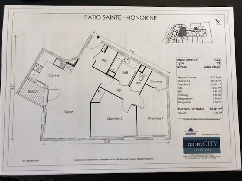 Rental apartment Conflans ste honorine 965€ CC - Picture 2