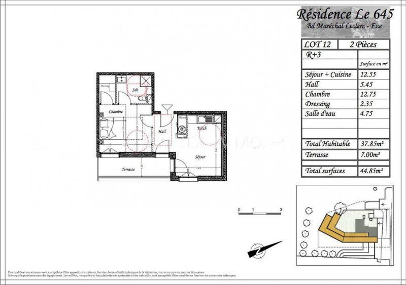 Revenda apartamento Èze 261165€ - Fotografia 3