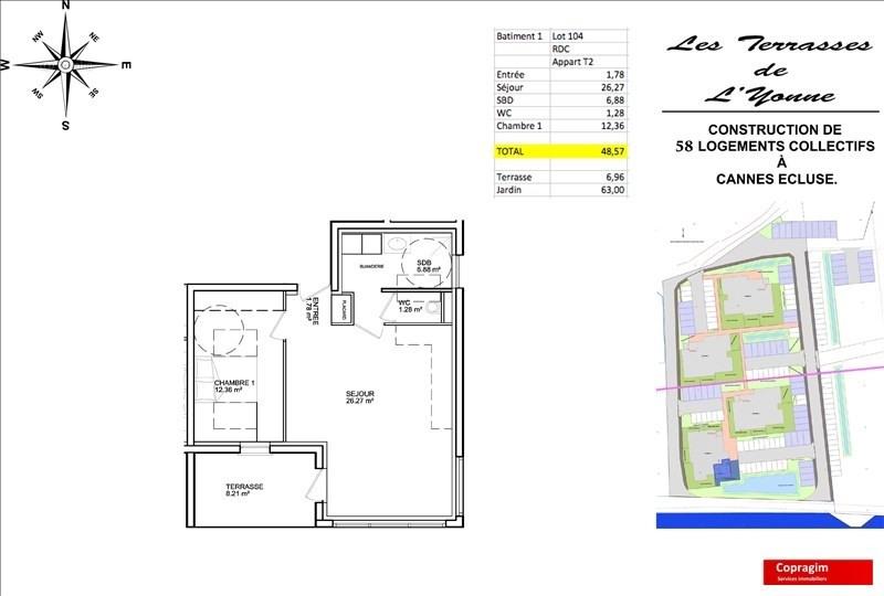 Produit d'investissement appartement Cannes ecluse 152000€ - Photo 2