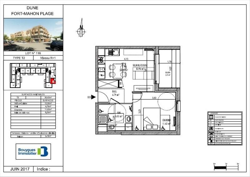 Vente appartement Fort mahon plage 114500€ - Photo 4