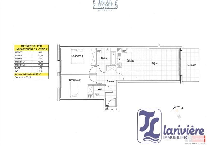 Vente appartement Wimereux 258000€ - Photo 2