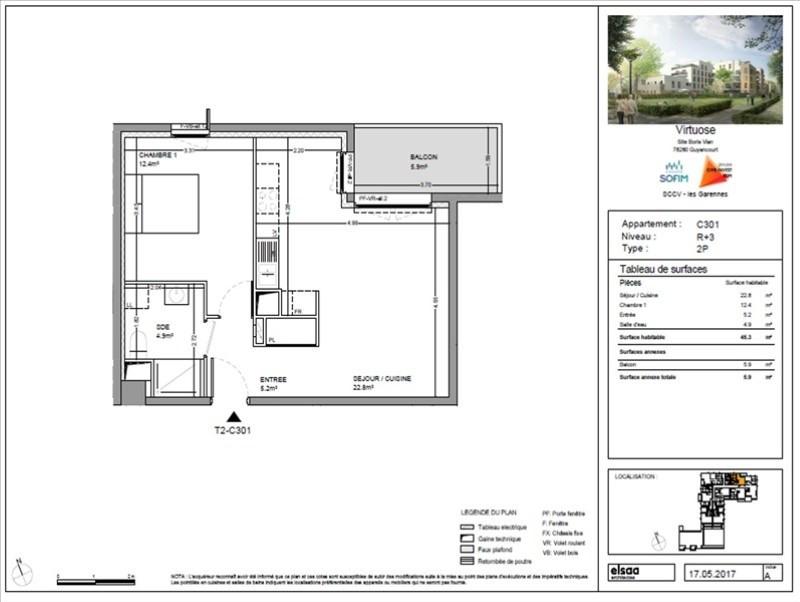Sale apartment Guyancourt 244900€ - Picture 1