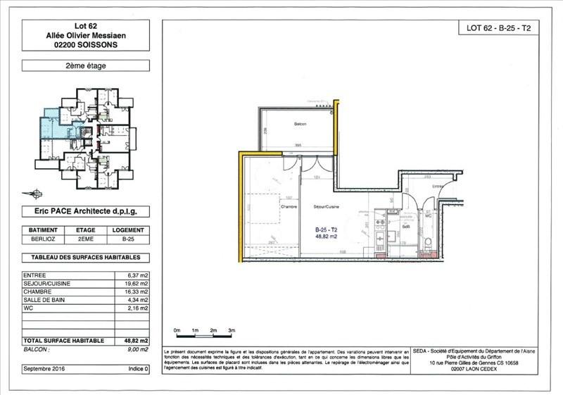 Produit d'investissement appartement Soissons 109000€ - Photo 1