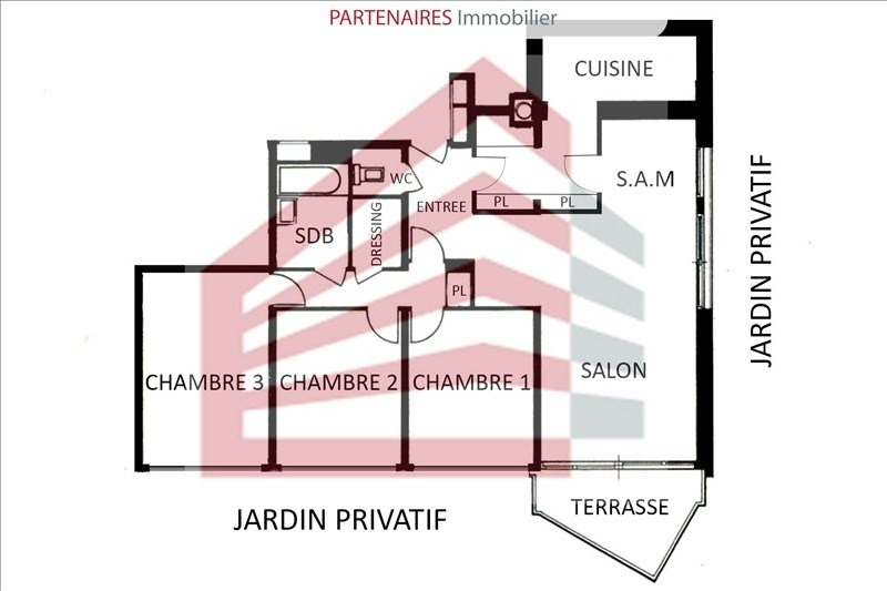 Sale apartment Le chesnay 399 000€ - Picture 5