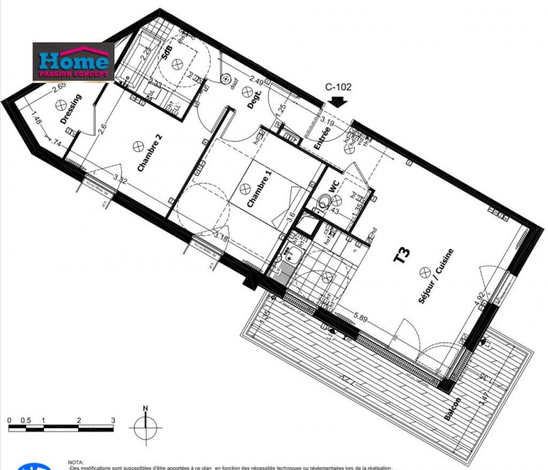 Vente appartement Rueil malmaison 454000€ - Photo 1