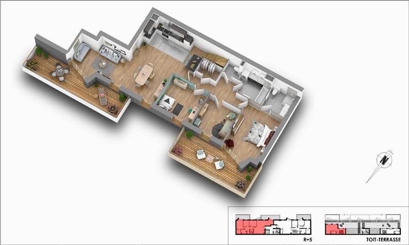 Deluxe sale apartment Courbevoie 1291500€ - Picture 2