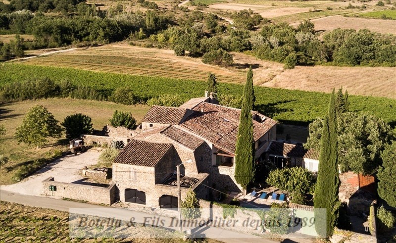 Verkauf von luxusobjekt haus Barjac 915000€ - Fotografie 1