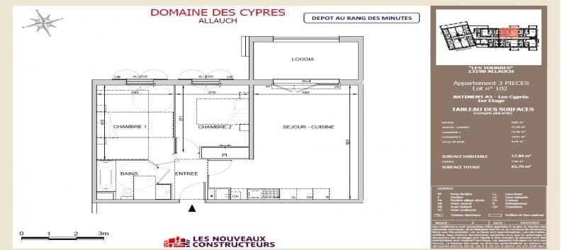 Alquiler  apartamento Allauch 840€ CC - Fotografía 1