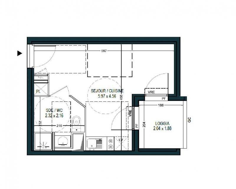 Sale apartment Montpellier 116000€ - Picture 3