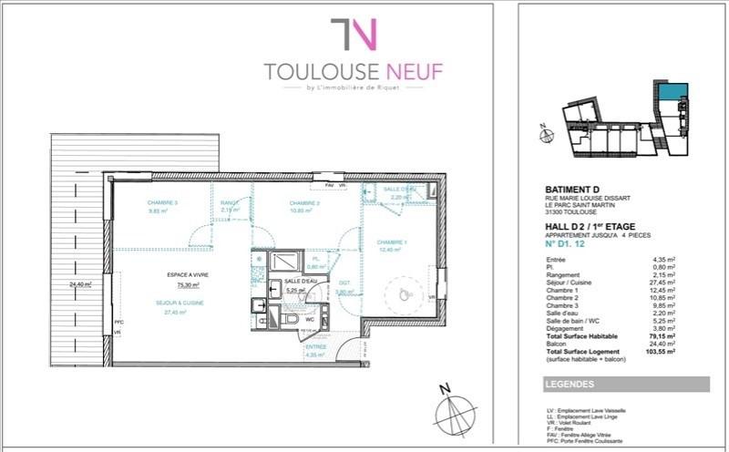 Vente appartement Toulouse 279000€ - Photo 9