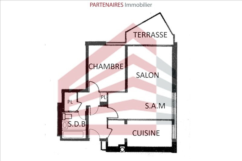Sale apartment Le chesnay 221 000€ - Picture 4