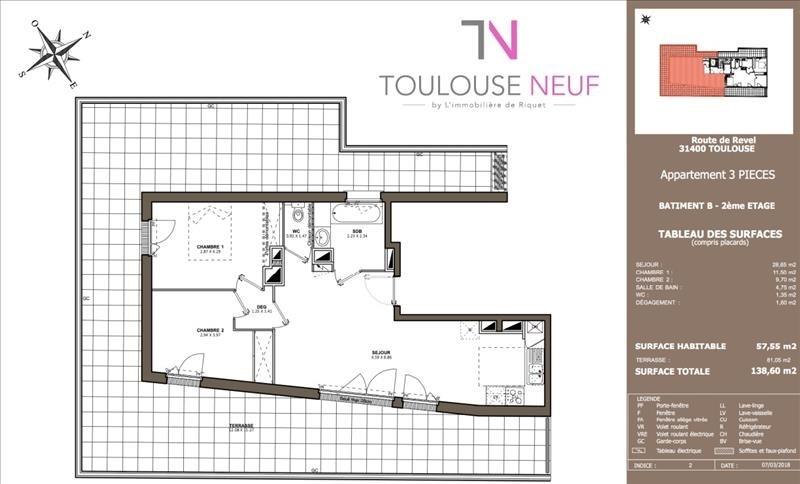 Vente appartement Toulouse 286900€ - Photo 5
