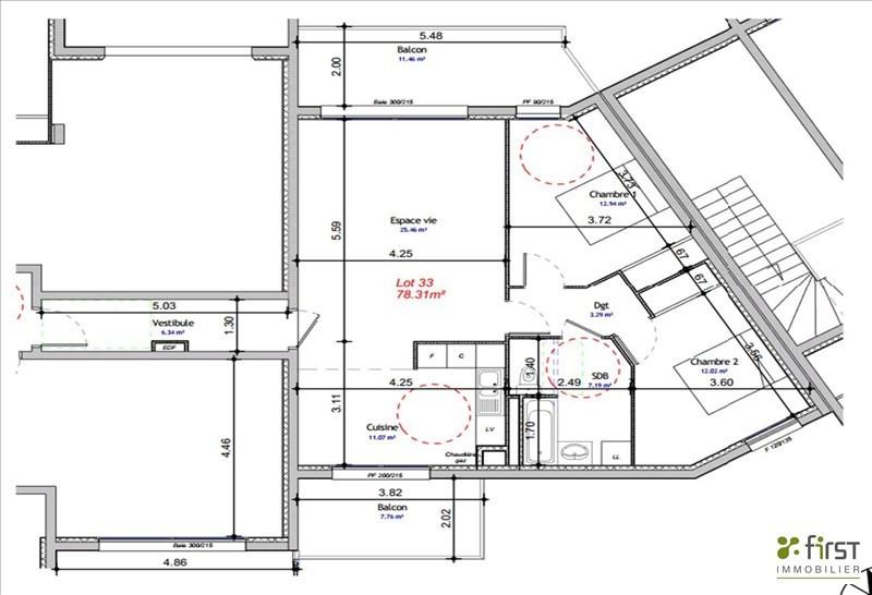 Sale apartment Balme de sillingy 291000€ - Picture 1