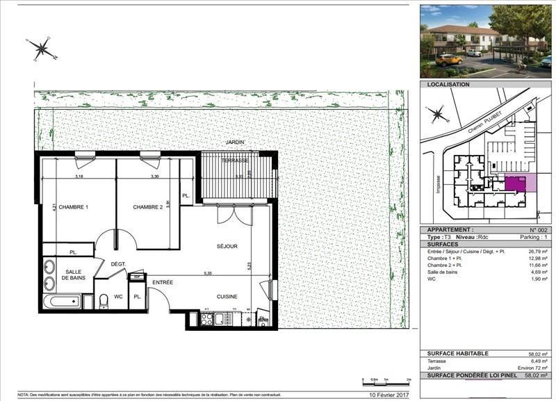 Vente appartement Toulouse 232000€ - Photo 5