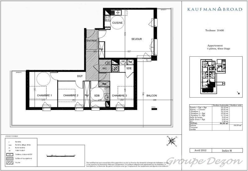 Vente appartement Toulouse 284000€ - Photo 7
