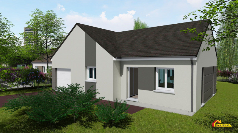 """Modèle de maison  """"Modèle de maison en L de 6 pièces"""" à partir de 6 pièces Loiret par LES MAISONS BATIBAL"""
