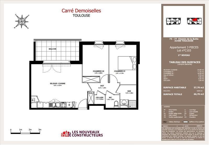 Vente appartement Toulouse 220000€ - Photo 5
