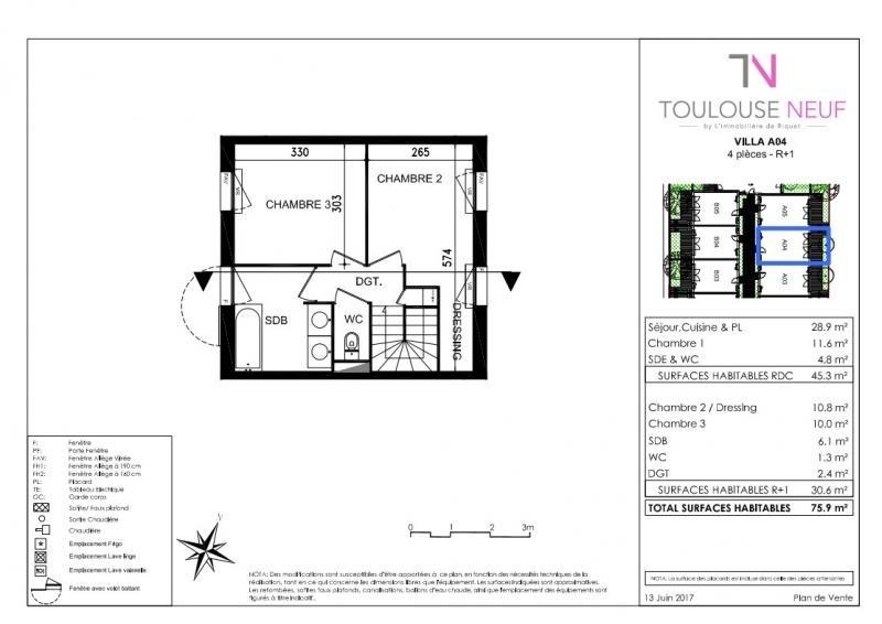 Vente maison / villa Toulouse 318000€ - Photo 5