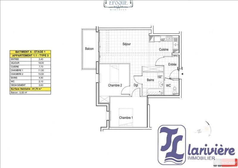 Vente appartement Wimereux 248000€ - Photo 2