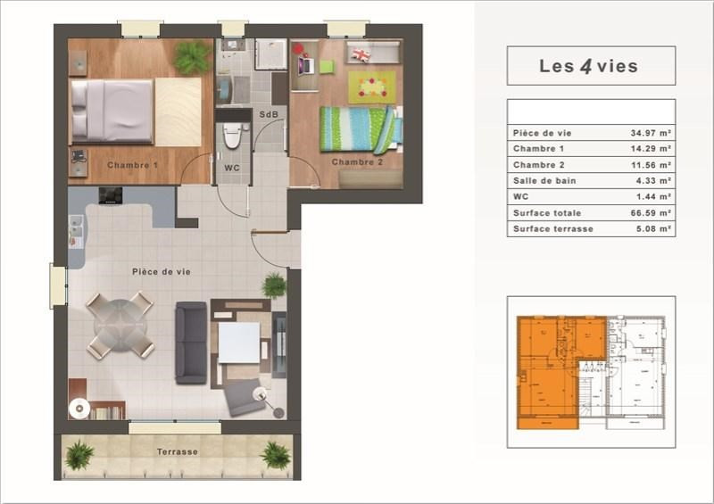 Sale apartment Bourgoin jallieu 177000€ - Picture 2