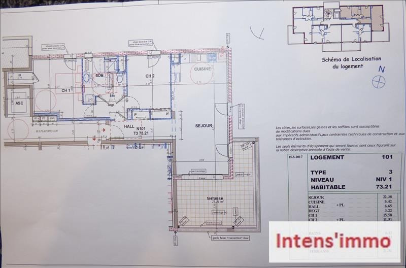 Sale apartment Pizancon 185000€ - Picture 3