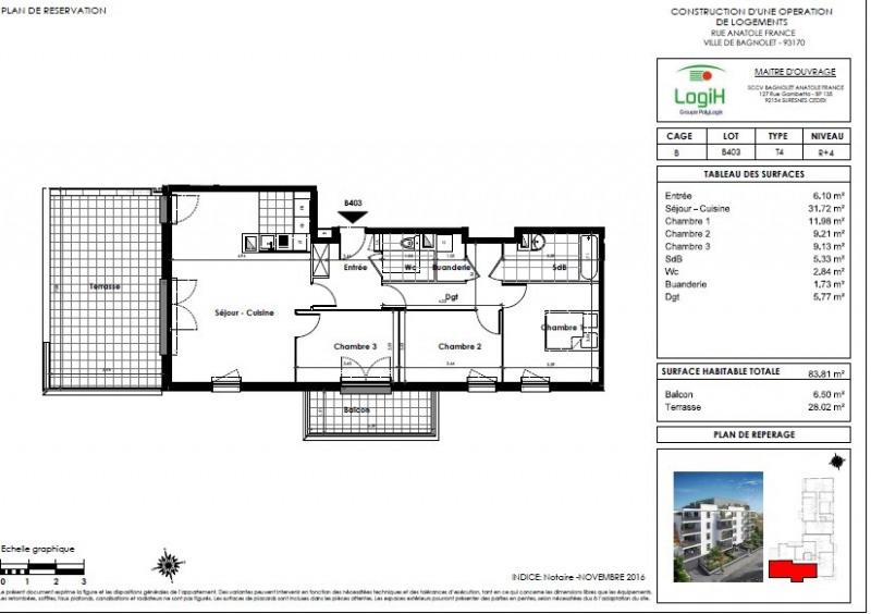 Sale apartment Bagnolet 320000€ - Picture 3
