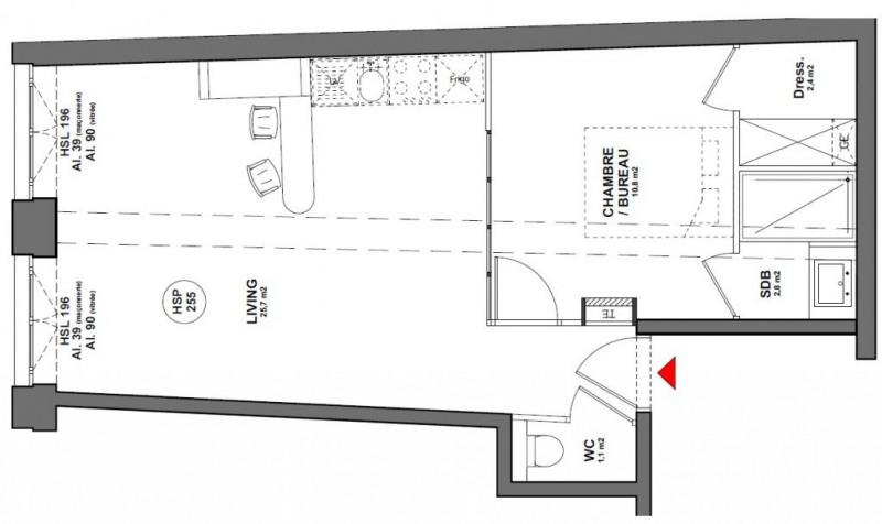 Vente appartement Lyon 1er 185000€ - Photo 2