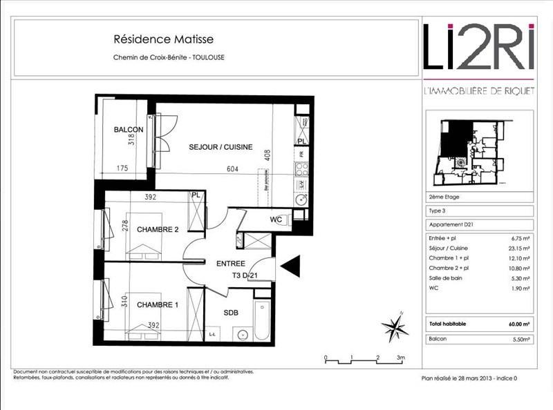 Vente appartement Toulouse 192000€ - Photo 9