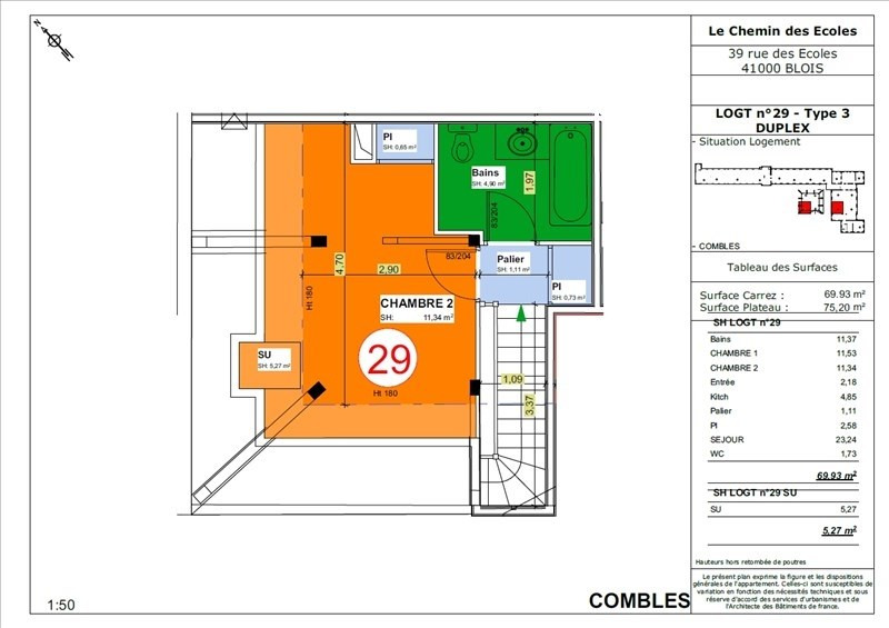Vente appartement Blois 166 500€ - Photo 5