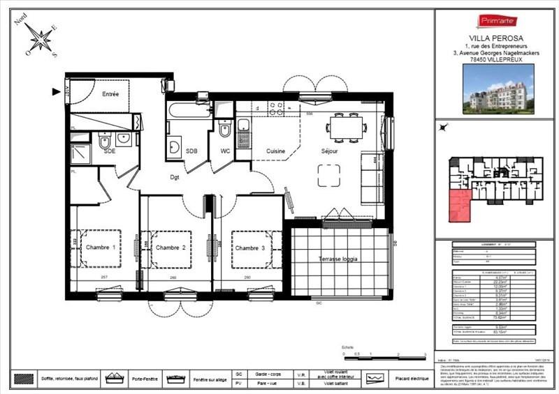 Vente appartement Villepreux 260000€ - Photo 3