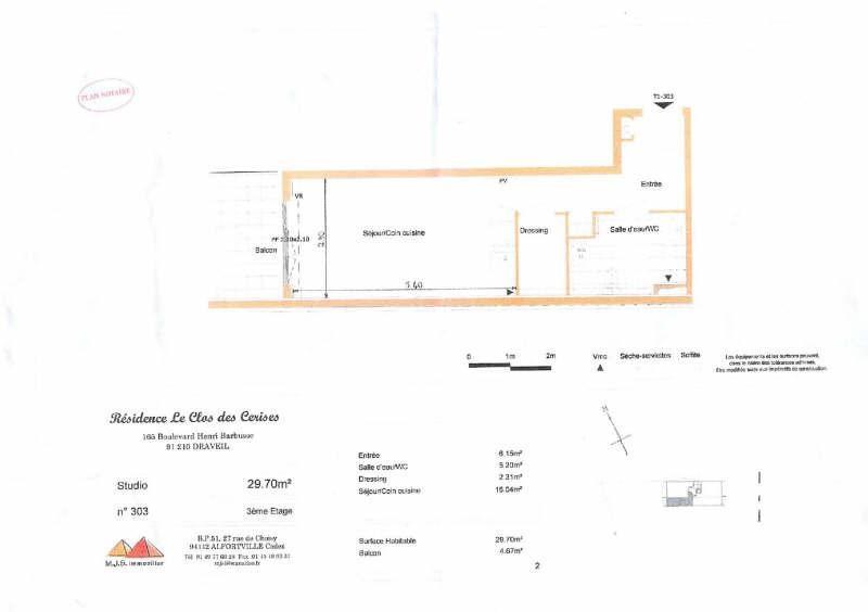 Location appartement Draveil 580€ CC - Photo 2