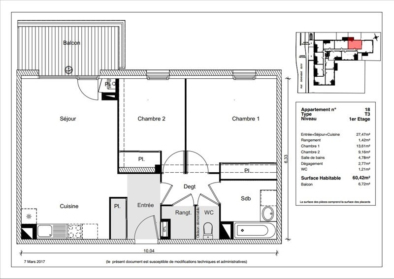 Vente appartement Toulouse 193900€ - Photo 2