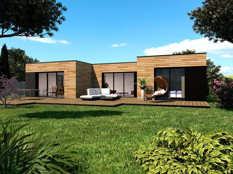 """Modèle de maison  """"Modèle plain pied FORM U à partir de 5 pièces"""" à partir de 5 pièces Paris par PRIMOBOIS VAL D'OISE"""