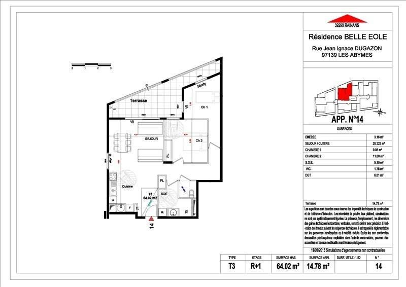 Sale apartment Les abymes 156500€ - Picture 16