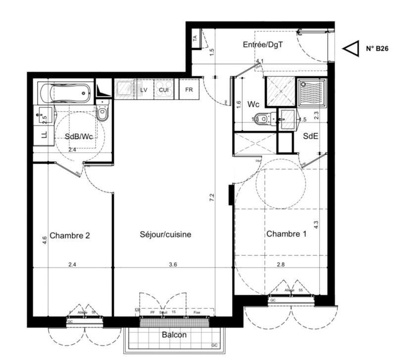 Vente appartement Plaisir 259000€ - Photo 2