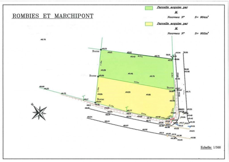 Vente Terrain constructible 950m² Rombies-et-Marchipont