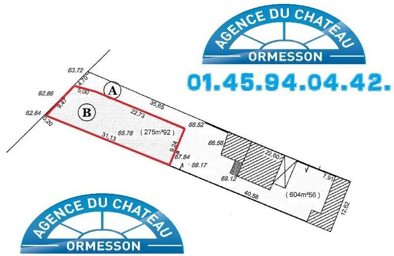 Vente terrain Ormesson sur marne 233000€ - Photo 1