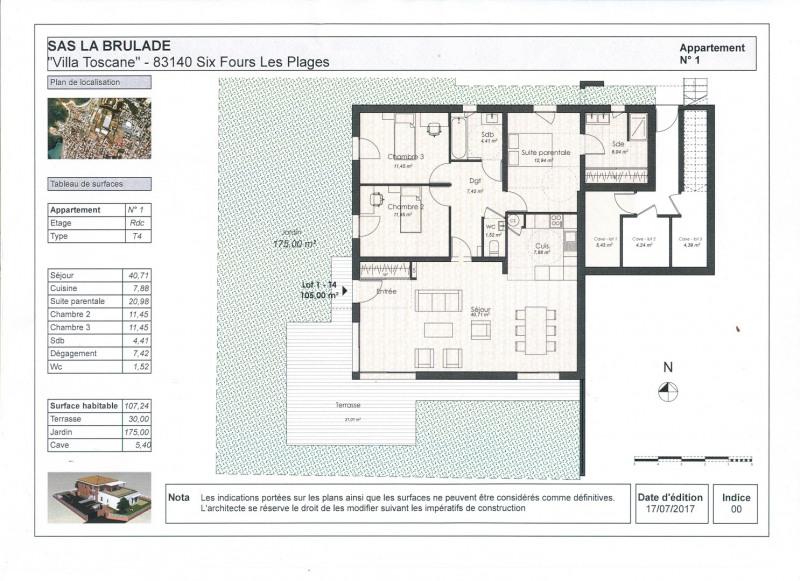 Sale apartment Six fours les plages 545000€ - Picture 1