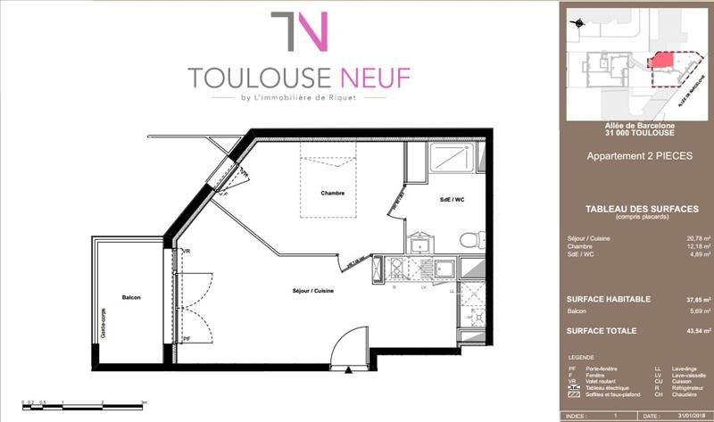 Vente appartement Toulouse 191 000€ - Photo 7