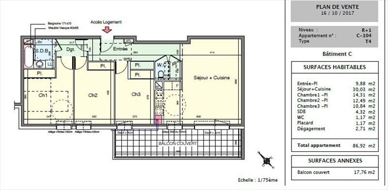 Venta  apartamento Seynod 323000€ - Fotografía 2