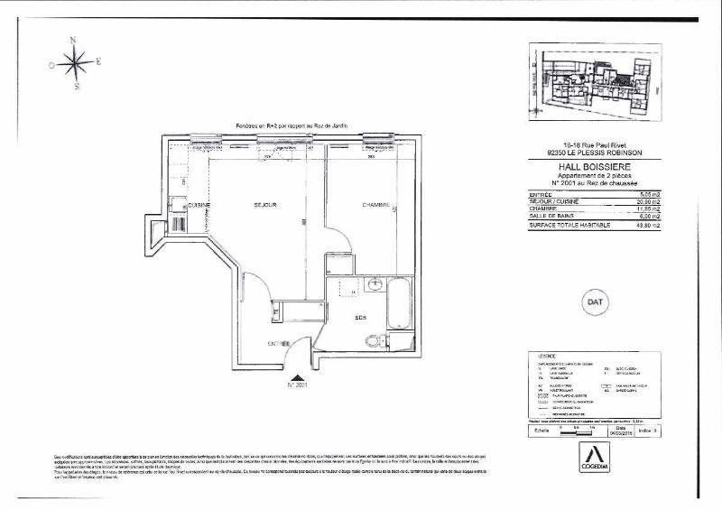 Location appartement Le plessis robinson 1021€ CC - Photo 4